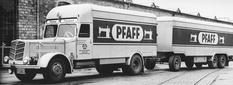 KHD first operates regular services between Kaiserslautern and Northern Germany for Pfaff exports (around 1954)